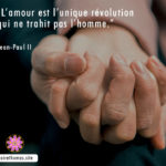 Citation de Jean-Paul II