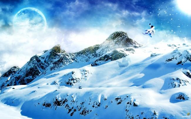 montagne_neige_skieur_wonderland