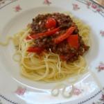 """Recette : spaghettis """"à la lentillaise"""""""