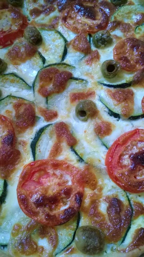 Tarte courgettes/tomates