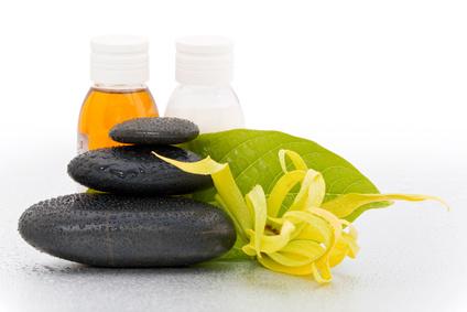 Concept Détente et Spa - Fleur Ylang-ylang et pierres zen