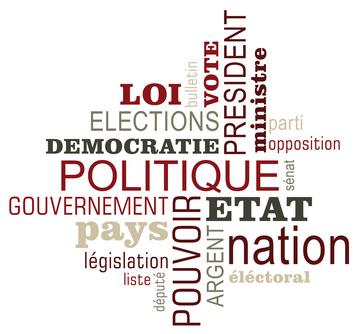 Nuage de mots sur le thème de la politique