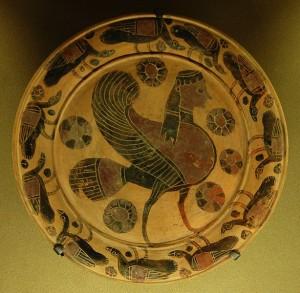 Représentation d'une sirène au VIème siècle avant J.-C.