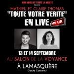 L'émission « Toute Votre Vérité » débarque au salon de la Voyance de Lamasquère !