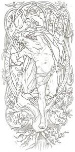 Odin se sacrifiant afin d'obtenir la connaissance