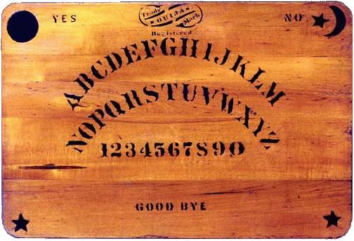 Modèle de planche de Ouija