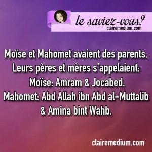 lesaviez-vous-mahomet-moise-parents