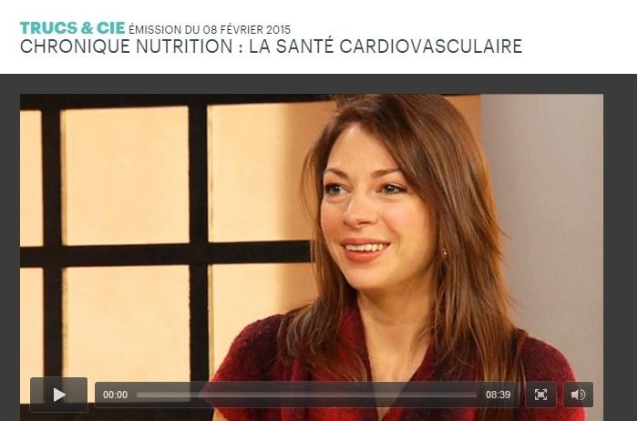 Chronique La santé cardiovasculaire par Andréanne Martin