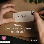 Citation d'Alain