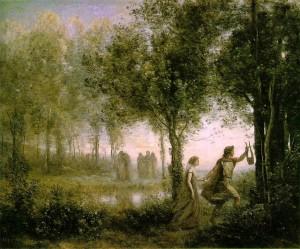 Orphée ramenant Eurydice des enfers de Camille Corot (1861)