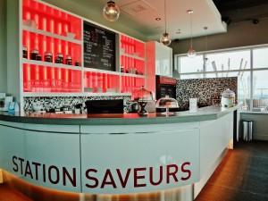 L'Espace saveurs pour prendre une collation au Spa. Crédits photo : Jessica Lebbe.
