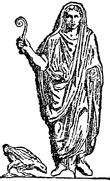 représentation d'un augure au temps de la Rome antique