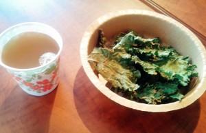 Chips de kale et kombucha