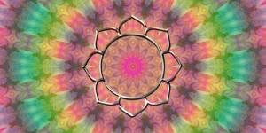 Spiritual lotus mandala
