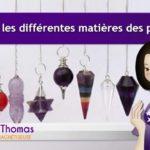 Quelles sont les différentes matières de pendule ?