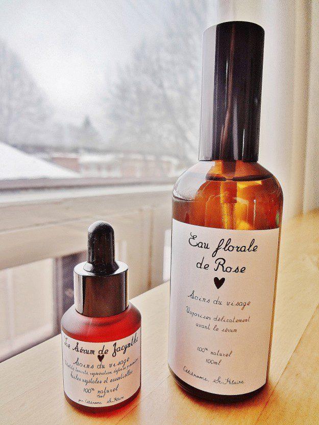 J'ai testé pour vous : l'eau florale à la rose et le sérum de Jacynthe René