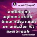 Le saviez-vous ? La méditation