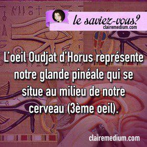Le saviez-vous ? L'œil d'Horus et la glande pinéale