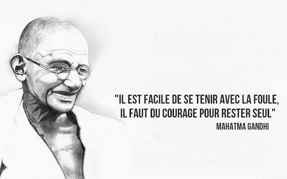La citation du jour par Gandhi