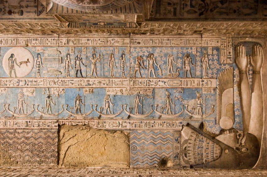 Les signes de l'astrologie égyptienne : Mout et Geb