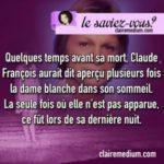 Le saviez-vous ? Claude Francois et la dame blanche