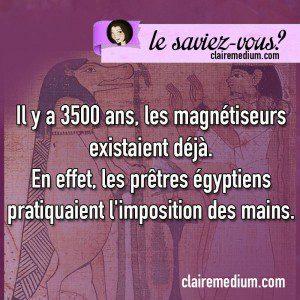 Le saviez-vous ? Egypte et magnétisme