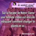 Le saviez-vous ? Notre Dame de Paris et l'alchimie