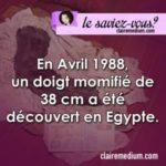 Le saviez-vous ? doigt retrouvé en Egypte