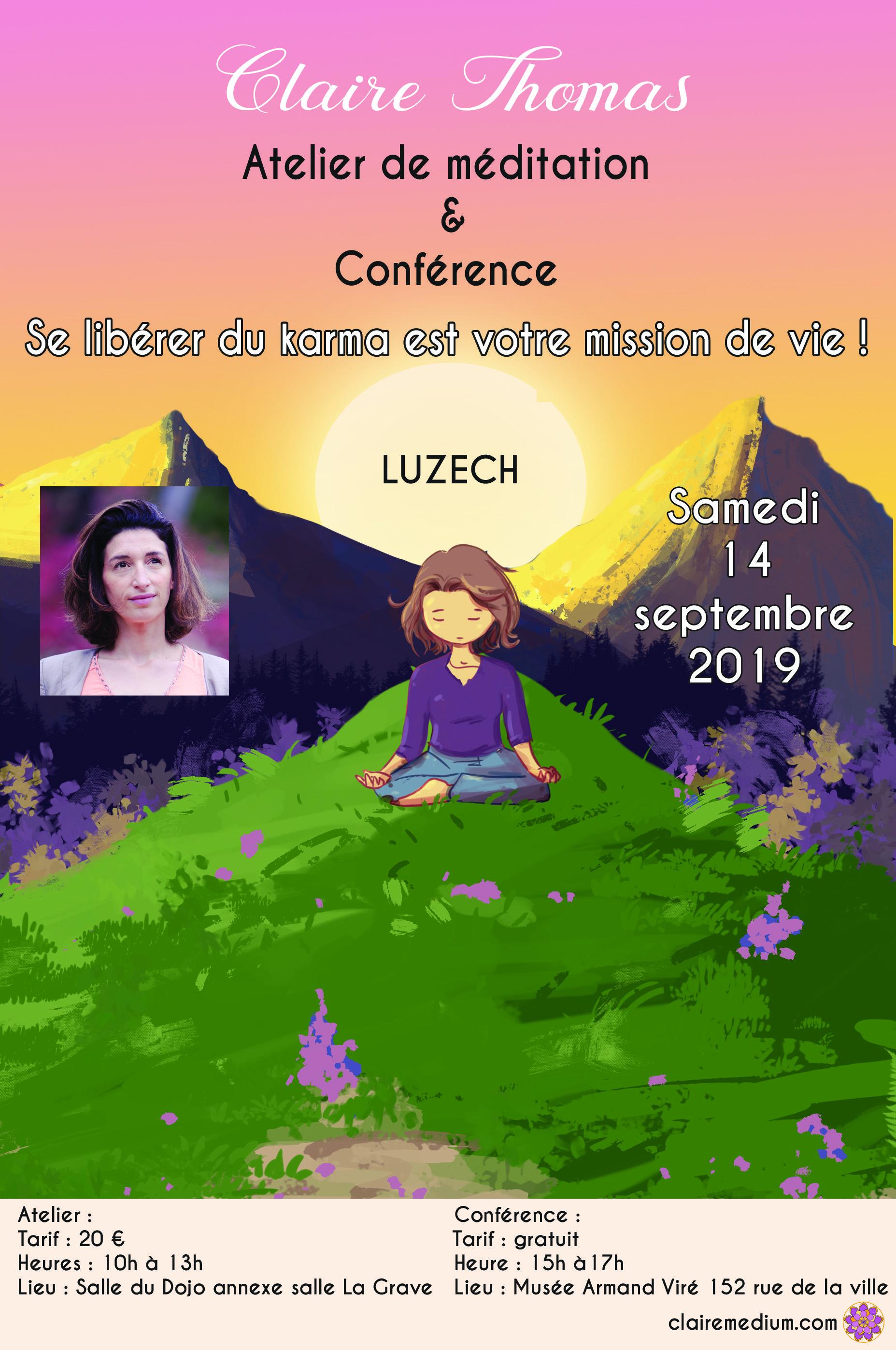 Conférence et atelier de méditation à Luzech (46)