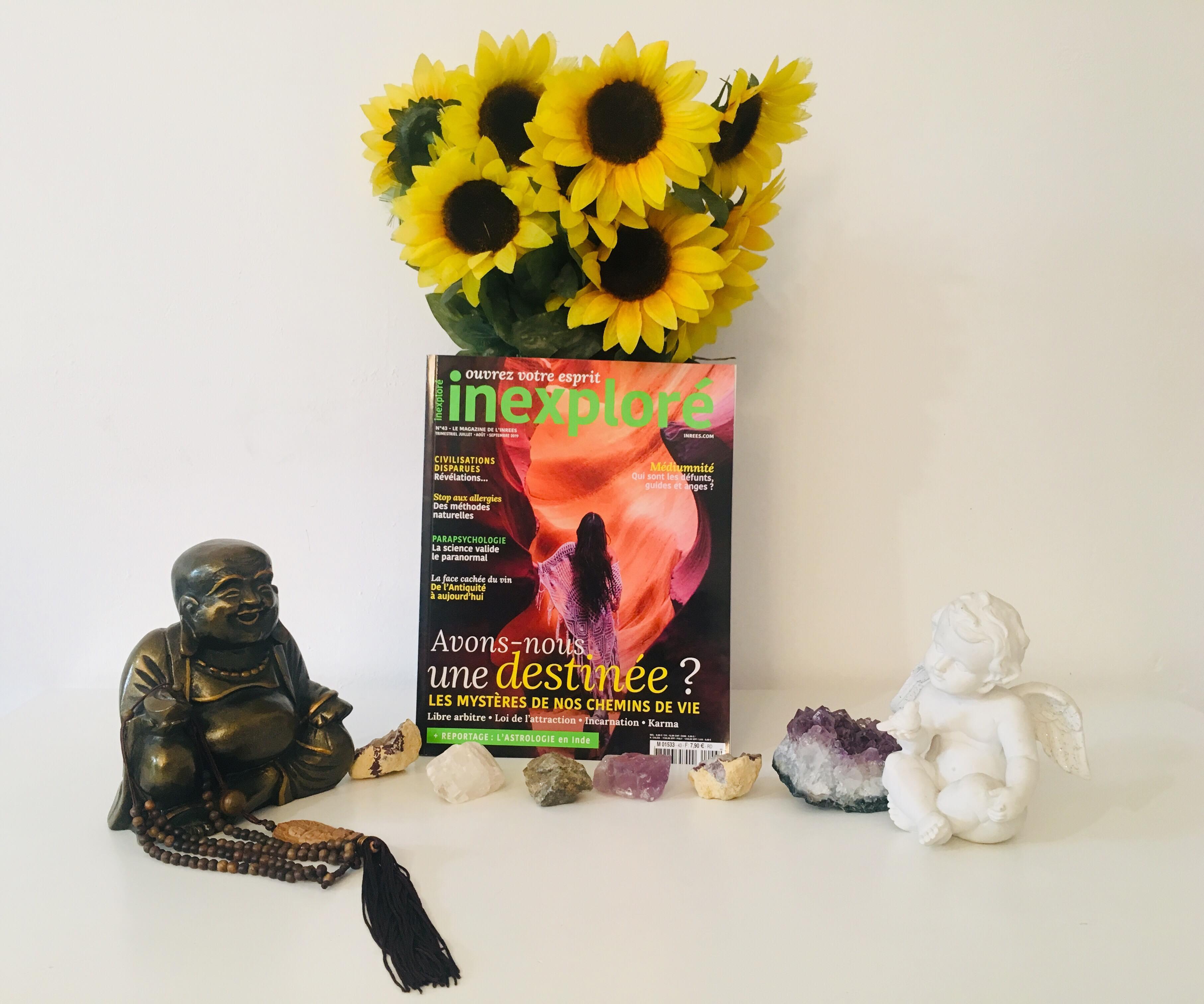 Retrouvez mon point de vue sur le karma et la spiritualité dans le magazine Inexploré n°43