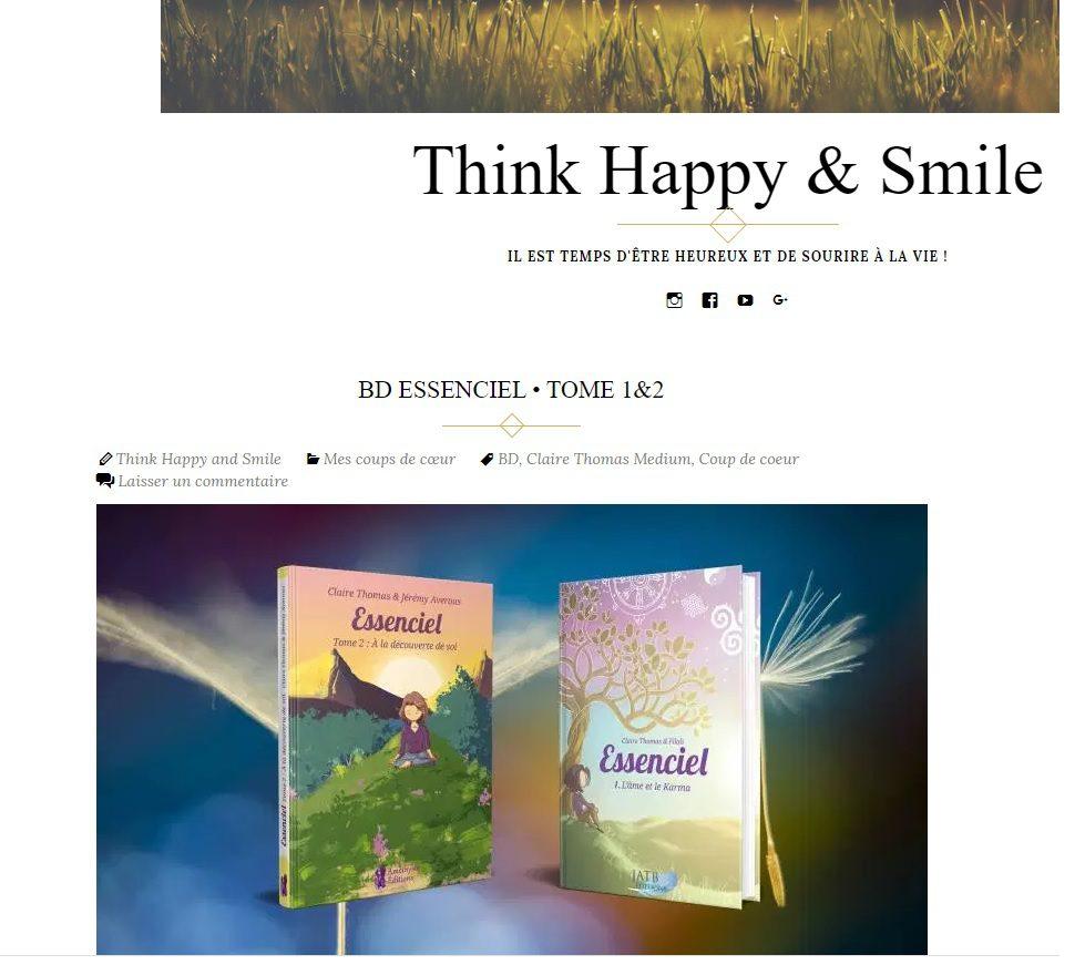 Article Essenciel Tome 1 & 2 Think Happy & Smile